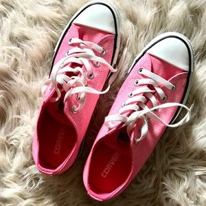 Shoes - Hot pink Converse all star sneakers • NEW